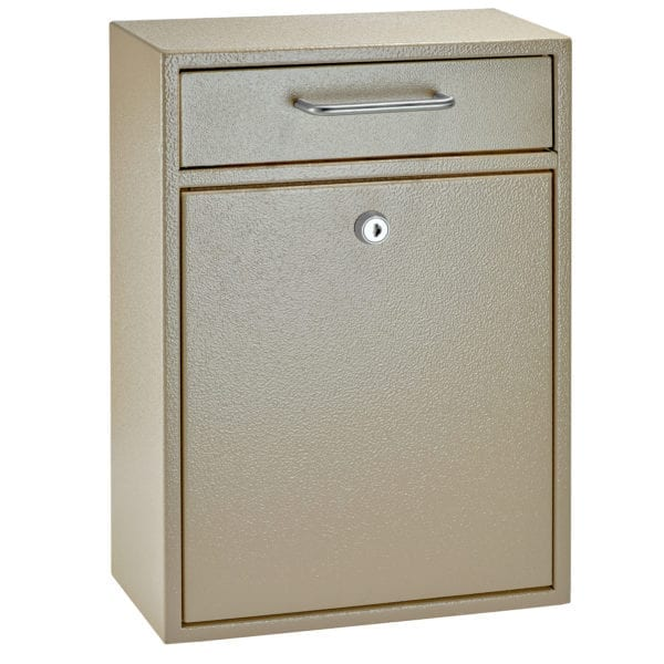 Mail Boss Tan Locking Security Drop Box 7419 - The Hardware Supply