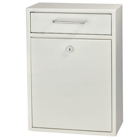 Mail Boss White Locking Security Drop Box 7410 - The Hardware Supply