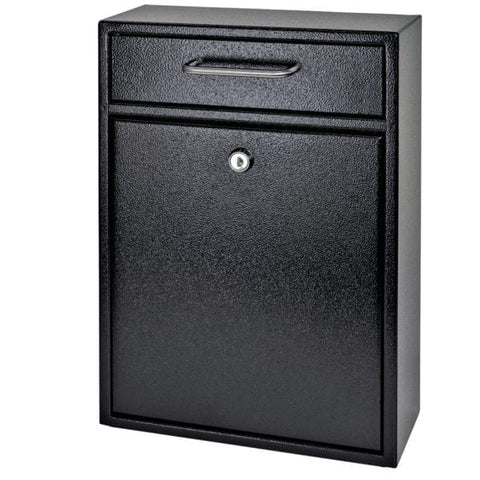 Mail Boss Black Locking Security Drop Box 7412 - The Hardware Supply