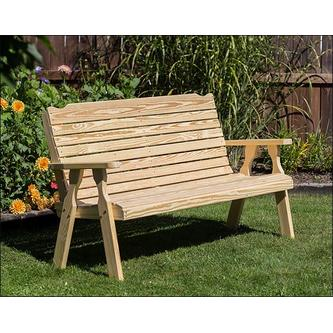 "Creekvine Designs 53"" Treated Pine Crossback Garden Bench FPB48CB-2CVD"