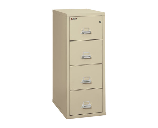 "FireKing Four Drawer 31"" Deep Vertical Legal Size File Cabinet 4-2131-C"