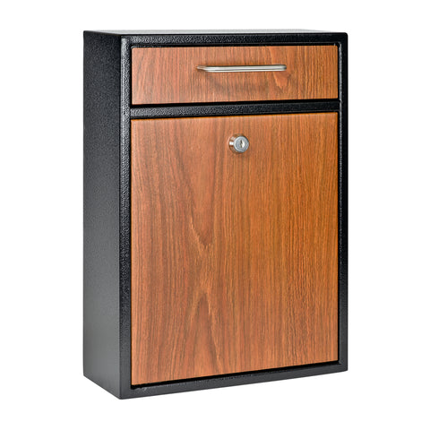 Mail Boss Wood Grain Locking Security Drop Box 7427 - The Hardware Supply