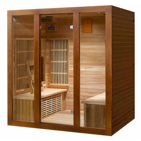 SunRay 4 Person Roslyn Infrared Sauna HL400KS - The Hardware Supply