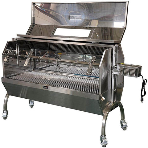 "50W 62"" Charcoal Pig Spit Roaster SSH1XL - The Hardware Supply"