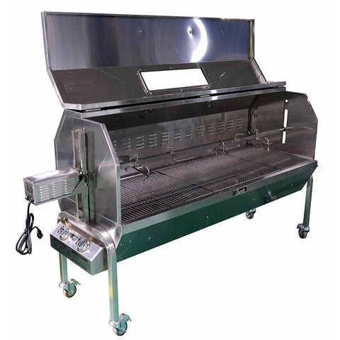 "50W 52"" Propane/Charcoal Pig Spit Roaster Combo SSGC1 - The Hardware Supply"