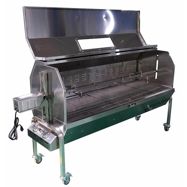 "50W 62"" Propane/Charcoal Spit Roaster SSGC1XL - The Hardware Supply"