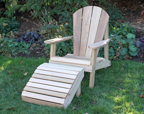Creekvine Designs Cedar Adirondack Chair & Footrest Set WRF516200CVD