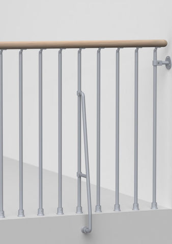 Arke Stairway Balcony Rail Kits for Phoenix Spiral and Karina Modular Stairways-Arke Karina Series Balcony Rail Kits - The Hardware Supply