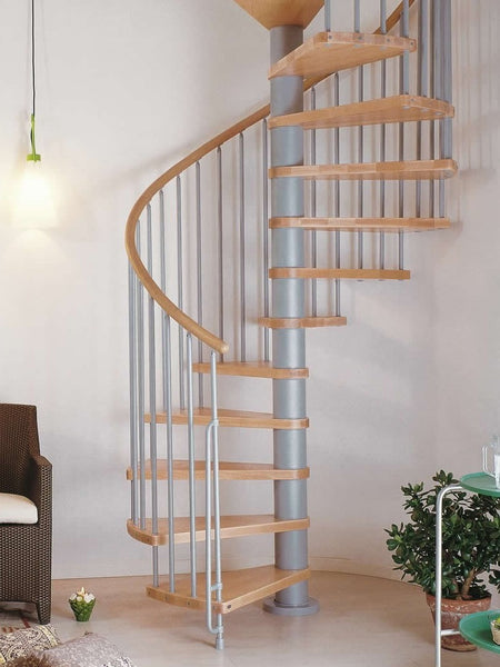 "Arke 63""D Phoenix Wood Tread Spiral Staircase Kits-Arke Phoenix 63 Inch Diameter Spiral Kits - The Hardware Supply"