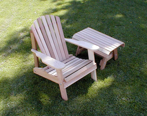 Creekvine Designs Cedar American Forest Adirondack Chair & Table Set WRF5200SETCVD