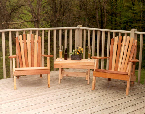 Creekvine Designs Cedar American Forest Adirondack Chair Collection WRF5202CVD