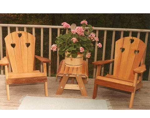 Creekvine Designs Cedar Country Hearts Adirondack Chair Collection WRF5100CHSETCVD