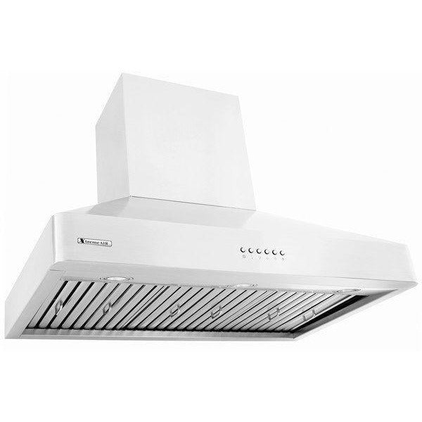 Xtreme Air USA DL08-W42 Deluxe Series LED Lights, Baffle Filters W/ Grease Drain Tunnel, Wall Mount Range Hood In Stainless Steel - The Hardware Supply