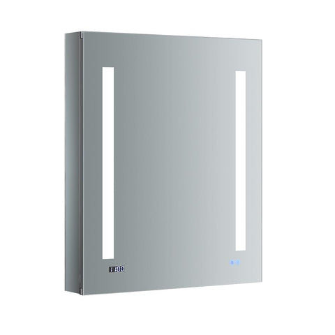 "Fresca Tiempo Bathroom Medicine Cabinet with LED Lighting & Defogger 24"" x 30"" x 5"" FMC012430-L - The Hardware Supply"