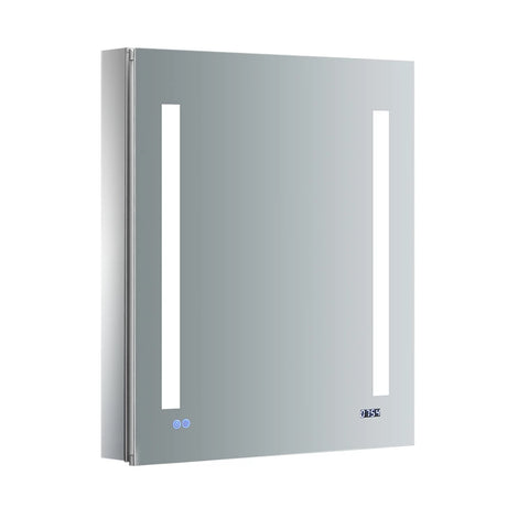 "Fresca Tiempo Bathroom Medicine Cabinet with LED Lighting & Defogger 24"" x 30"" x 5"" FMC012430-R - The Hardware Supply"