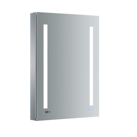 "Fresca Tiempo Bathroom Medicine Cabinet with LED Lighting & Defogger 24"" x 36"" x 5""FMC012436-L - The Hardware Supply"