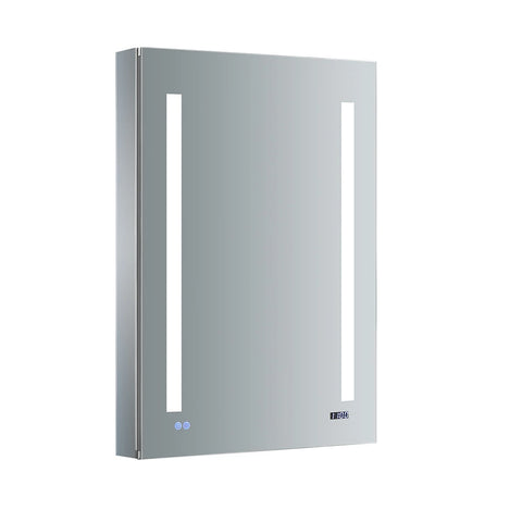 "Fresca Tiempo Bathroom Medicine Cabinet with LED Lighting & Defogger 24"" x 36"" x 5"" FMC012436-R - The Hardware Supply"