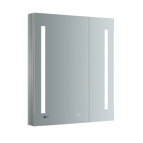 "Fresca Tiempo 30"" Wide x 36"" Tall Bathroom Medicine Cabinet w/ LED Lighting & Defogger-FMC013036 - The Hardware Supply"