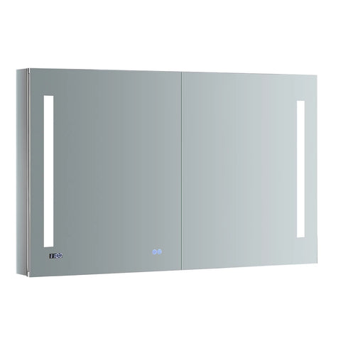 "Fresca Tiempo 48"" Wide x 30"" Tall Bathroom Medicine Cabinet w/ LED Lighting & Defogger-FMC014830 - The Hardware Supply"