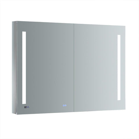 "Fresca Tiempo 48"" Wide x 36"" Tall Bathroom Medicine Cabinet w/ LED Lighting & Defogger-FMC014836 - The Hardware Supply"