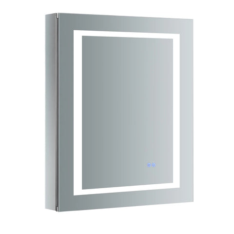 "Fresca Spazio Bathroom Medicine Cabinet with LED Lighting & Defogger 24"" x 30"" x 5"" FMC022430-L - The Hardware Supply"