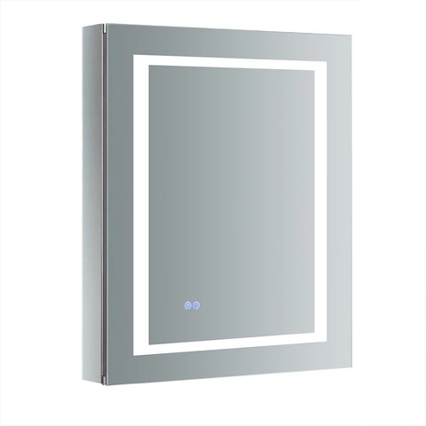 "Fresca Spazio Bathroom Medicine Cabinet with LED Lighting & Defogger 24"" x 30"" x 5"" FMC022430-R - The Hardware Supply"