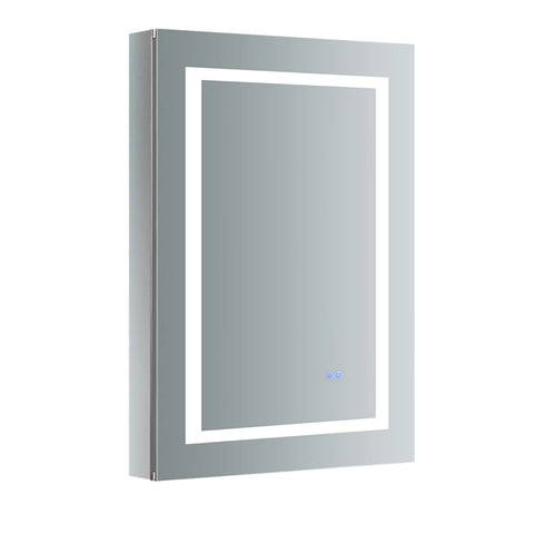 "Fresca Spazio Bathroom Medicine Cabinet with LED Lighting & Defogger 24"" x 36"" x 5"" FMC022436-L - The Hardware Supply"