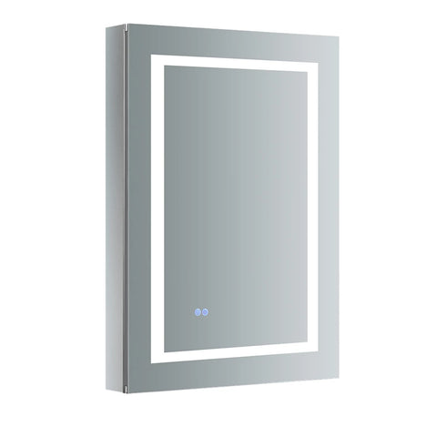 "Fresca Spazio Bathroom Medicine Cabinet with LED Lighting & Defogger 24"" x 36"" x 5"" FMC022436-R - The Hardware Supply"