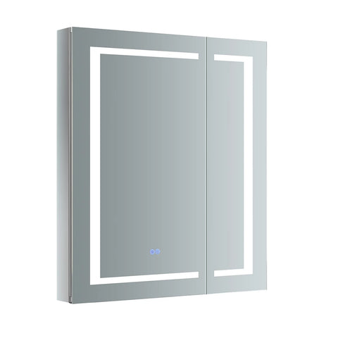 "Fresca Spazio Bathroom Medicine Cabinet with LED Lighting & Defogger 30"" x 36"" x 5"" FMC023036 - The Hardware Supply"