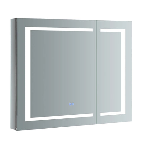 "Fresca Spazio Bathroom Medicine Cabinet with LED Lighting & Defogger 36"" x 30"" x 5"" FMC023630 - The Hardware Supply"