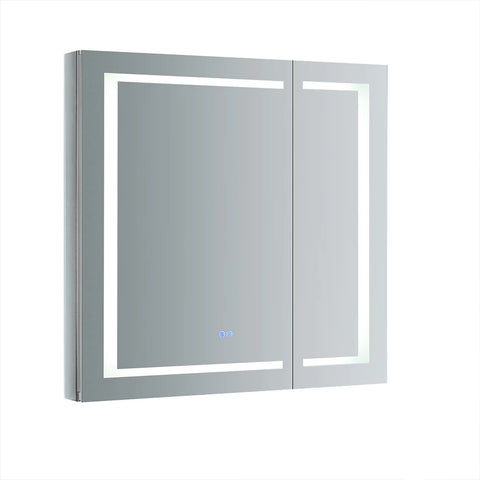 "Fresca Spazio Bathroom Medicine Cabinet w/ LED Lighting & Defogger  36"" x 36"" x 5"" FMC023636 - The Hardware Supply"