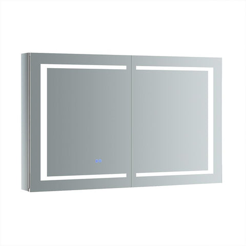 "Fresca Spazio Bathroom Medicine Cabinet w/ LED Lighting & Defogger 48"" x 30"" x 5"" FMC024830 - The Hardware Supply"