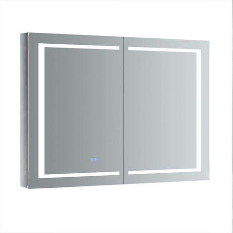 "Fresca Spazio Bathroom Medicine Cabinet with LED Lighting & Defogger 48"" x 36"" x 5"" FMC024836 - The Hardware Supply"