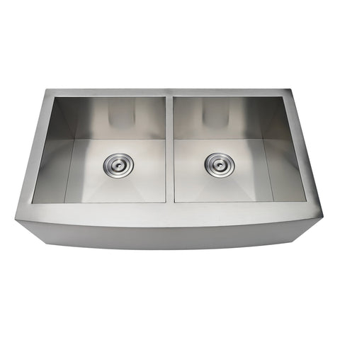 Gourmetier GKTDF33209 Drop-In Stainless Steel Double Bowl Farmhouse Kitchen Sink-GKTDF33209 - The Hardware Supply