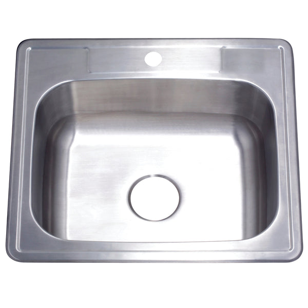 Gourmetier GKTS2522101 25″x22″x10″ Drop-In Single Bowl Kitchen Sink (1 Hole)-GKTS2522101 - The Hardware Supply