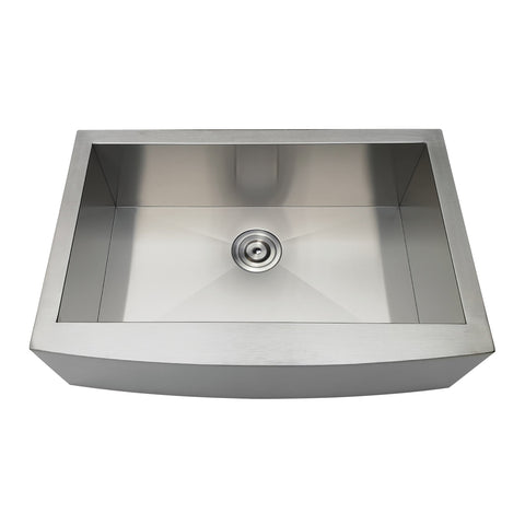 Gourmetier GKTSF30209 Drop-In Stainless Steel Single Bowl Farmhouse Kitchen Sink-GKTSF30209 - The Hardware Supply