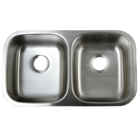Gourmetier GKUD3118 Undermount Double Bowl Kitchen Sink, Brushed-GKUD3118 - The Hardware Supply