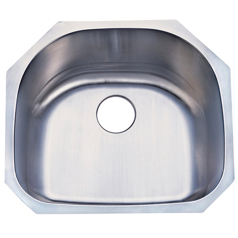 Gourmetier GKUS2321 Undermount Single Bowl Kitchen Sink, Brushed-GKUS2321 - The Hardware Supply
