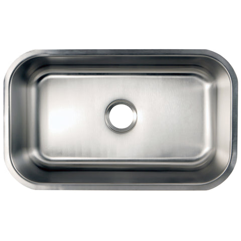 Gourmetier GKUS3018 Undermount Single Bowl Kitchen Sink, Brushed-GKUS3018 - The Hardware Supply