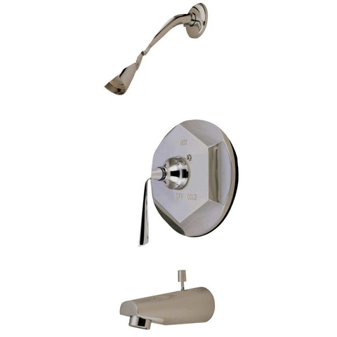 Kingston Brass KB4638ZL Tub and Shower Faucet, Brushed Nickel-KB4638ZL - The Hardware Supply