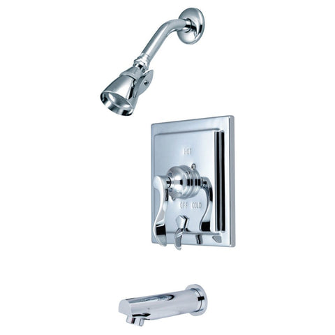 Kingston Brass KB86510DFL Tub and Shower Faucet, Polished Chrome-KB86510DFL - The Hardware Supply