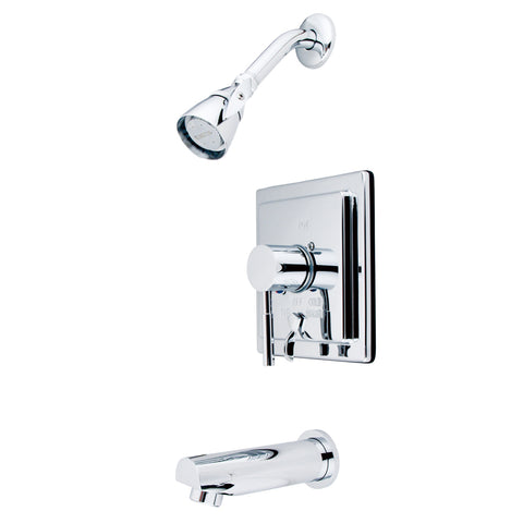 Kingston Brass KB86510DL Concord Tub & Shower Faucet, Polished Chrome-KB86510DL - The Hardware Supply