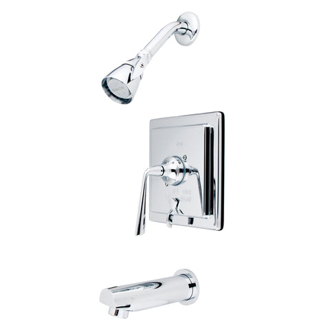 Kingston Brass KB86510ZL Silver Sage Tub & Shower Faucet with Diverter, Polished Chrome-KB86510ZL - The Hardware Supply