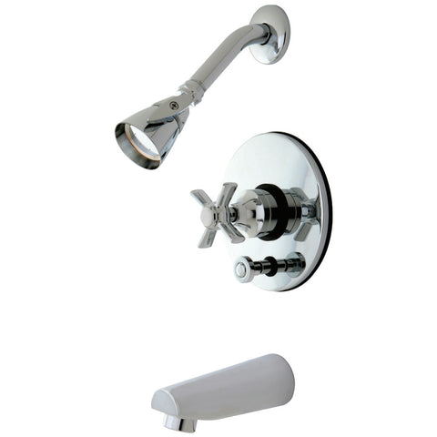 Kingston Brass KB86910ZX Tub/Shower Faucet, Polished Chrome-KB86910ZX - The Hardware Supply