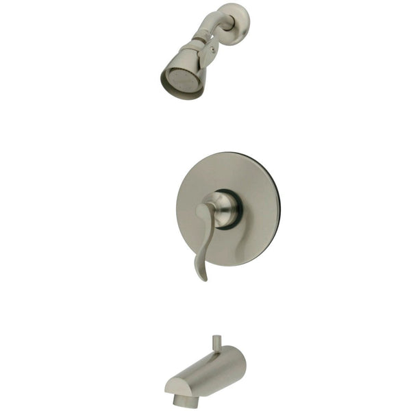 Kingston Brass KB8698DFL Tub and Shower Faucet, Brushed Nickel-KB8698DFL - The Hardware Supply