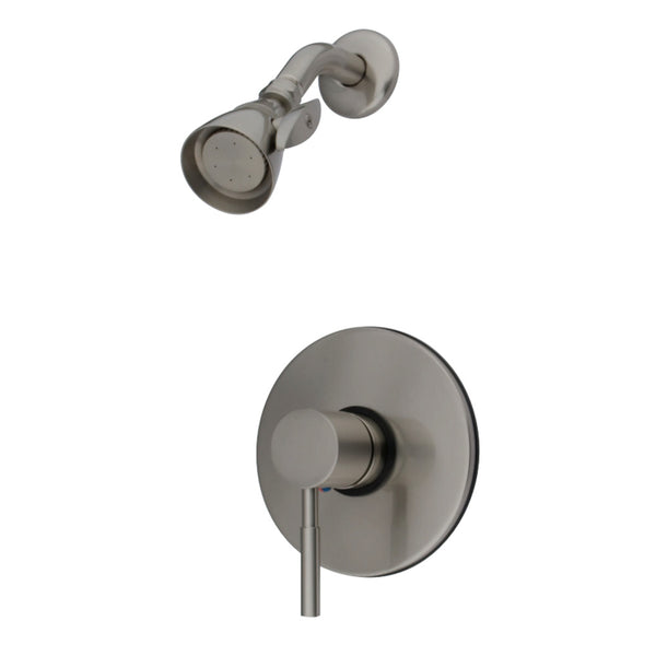 Kingston Brass KB8698DLSO Concord Tub & Shower Faucet (Tub Spout Not Included), Brushed Nickel-KB8698DLSO - The Hardware Supply
