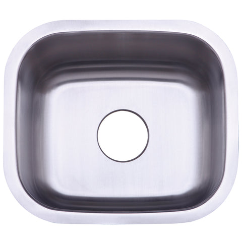 Gourmetier KU14167BN Undermount Single Bowl Kitchen Sink, Brushed-KU14167BN - The Hardware Supply