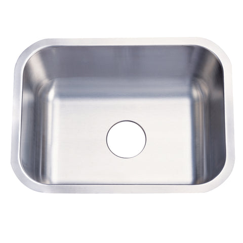 Gourmetier KU23189BN Undermount Single Bowl Kitchen Sink, Brushed-KU23189BN - The Hardware Supply