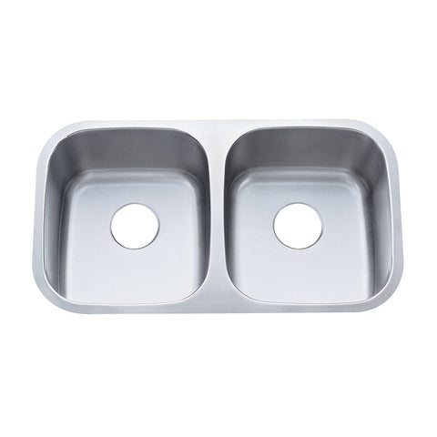 Gourmetier KU32188DBN Undermount Double Bowl Kitchen Sink, Brushed-KU32188DBN - The Hardware Supply