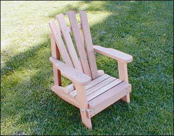 Creekvine Designs Cedar Child Size Wide Slat Adirondack Chair WF5000CVD